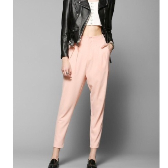 c10230869fccc High waisted pink/salmon pants trousers