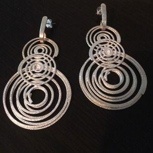 Jewelry - Matte finish UNIQUE DESIGNED Silver 925 Earrings