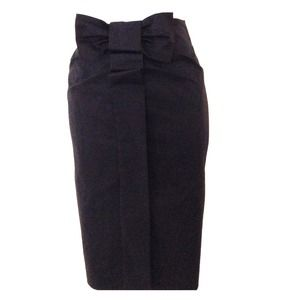 New French Bow knee length skirt
