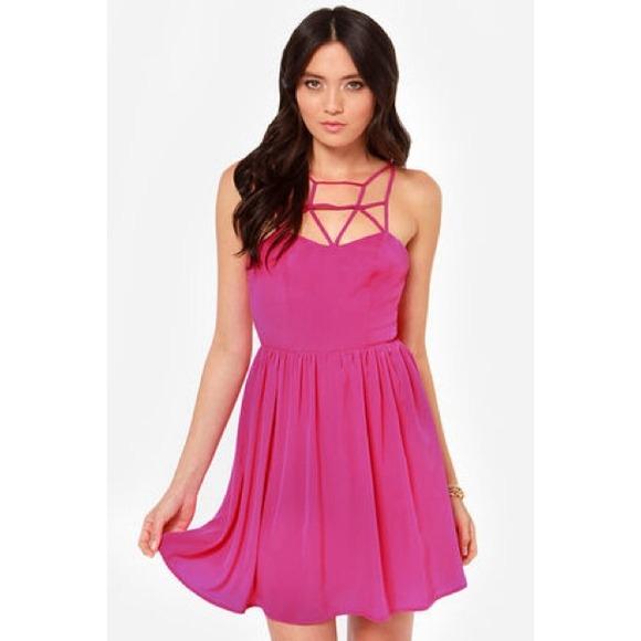 39 off lulu 39 s dresses skirts brand new fuchsia for Online stores like lulus