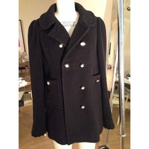 Juicy Couture heavy wool Black Pea Coat
