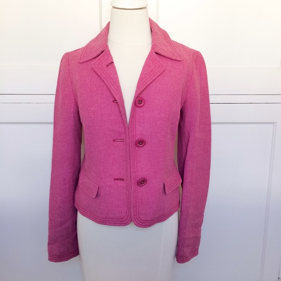 GAP Pink Wool Blazer