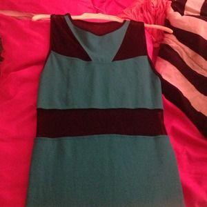Bebe turquoise mesh dress
