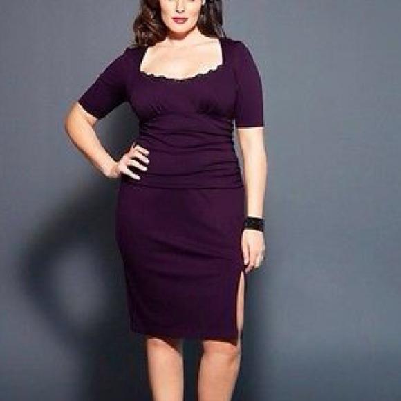 7a63ec9ff2f Kiyonna Dresses   Skirts - NWOT KIYONNA Purple Dollface PeekABoo Lace Dress