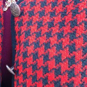 Vintage Jackets & Coats - ⭐️Vintage preppy houndstooth blazer