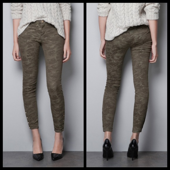 ZARA Camouflage Stretch Skinny Pants