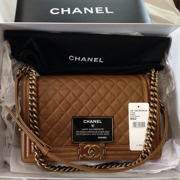 a4829304d7f Chanel Medium Dark Brown Boy Bag