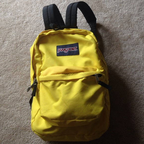 Jansport Accessories Backpack Yellowblack Poshmark