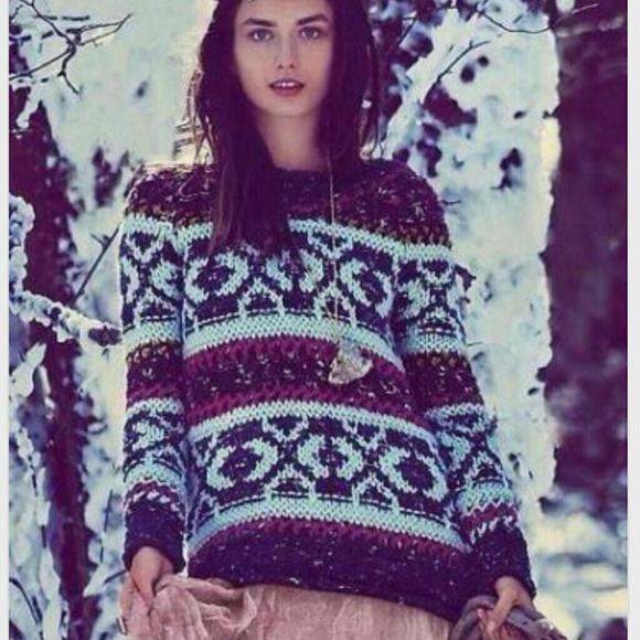 41% off Free People Sweaters - FREE PEOPLE Fair Isle 'Permafrost ...