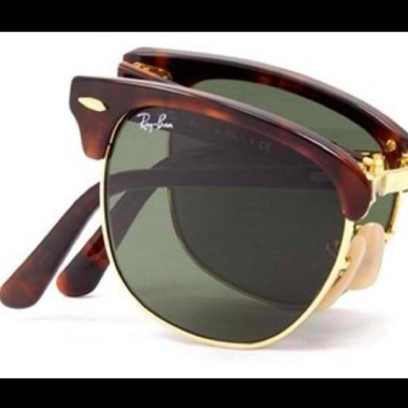 78460524e7 FLASH SALE Ray-Ban Folding Clubmaster Sunglasses