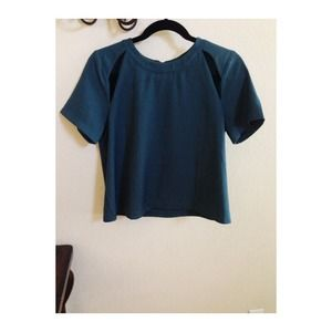 Teal box blouse