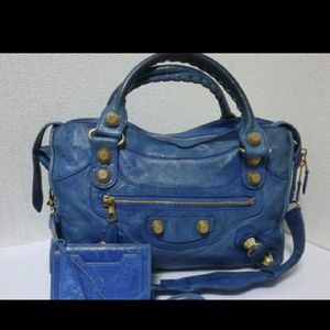 100% Authentic Balenciaga City Blue Ocean GHW
