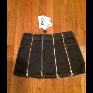 D&G denim jeans skirt size 38 Italy 2 USA vintage