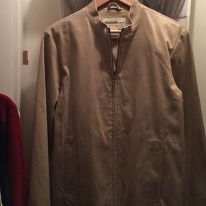 Eddie Bauer Jackets & Blazers - Eddie Bauer tan cotton lined woven jacket - washbl