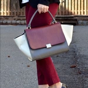 Handbags - Color block HANDBAG