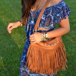 Handbags - Brown fringe BAG