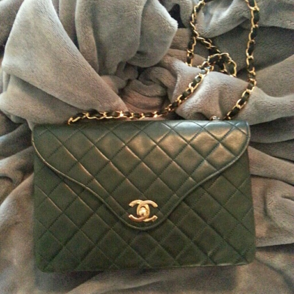 CHANEL - Authentic Vintage Chanel Forest Green Bag from Olivia's ...