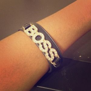 Jewelry - Black and gold Boss bracelet