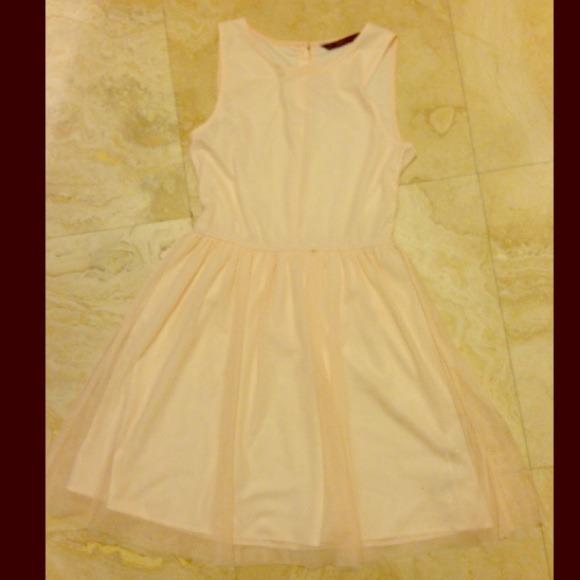 02f24100 Zara Dresses | Trafaluc By Pink Chiffon Dress | Poshmark