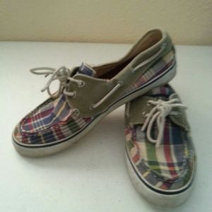 Sperry Shoes - Sperry Top Spider Boat Shoe Sneaker Plaid