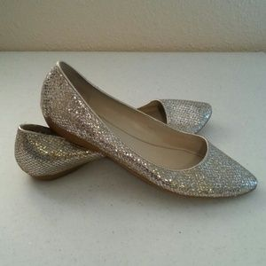 Nine West Shoes - Nine West Taker Pointe Flat Ballet Glitter Gold