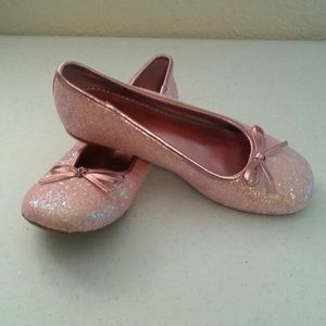 Sonoma Shoes - Sonoma Pink Glitter Ballet Flats Shoes