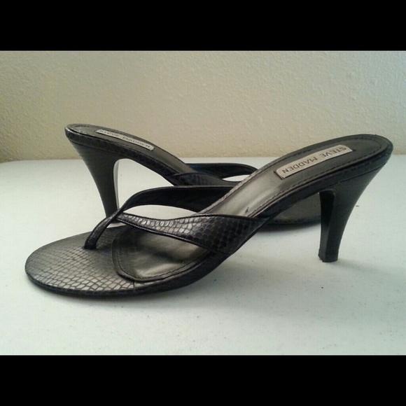 77% off Steve Madden Shoes - Steve Madden Kitten Heel Thong Sandle ...