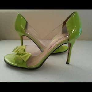 Beverly Feldman Shoes - Beverly Feldman Neon Green Vintage Retro Heels
