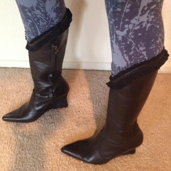 77 diesel boots hp diesel black leather mid calf