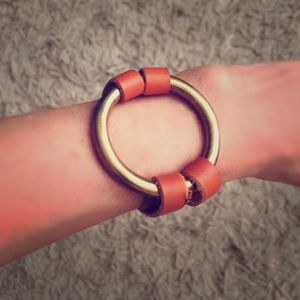 Jewelry - Orange leather bracelet