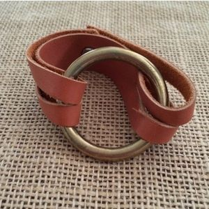 Jewelry - Minimalist  |  brass/leather bracelet