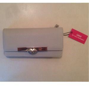 LuLu Grey Leather Wallet