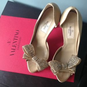 % Authentic Valentino Jeweled Pumps