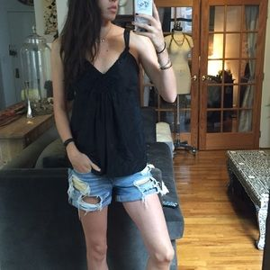 Banana Republic Tops - Banana Republic Black Silk Tank with Cool Detail