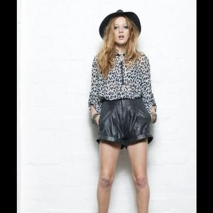 Evil Twin faux leather shorts **Reduced**
