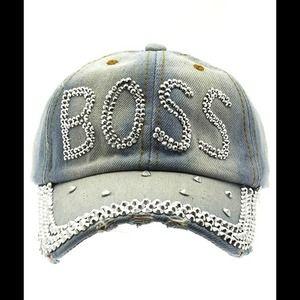 Kristee P Accessories - Rhinestone BOSS Hat