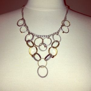 Jewelmint Multi Mixed Ring Chain Necklace