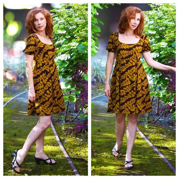 Anthropologie Gorgeous Fall Dress