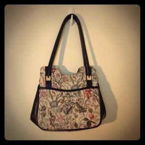 Vintage 70's Lk New Tapestry floral handbag