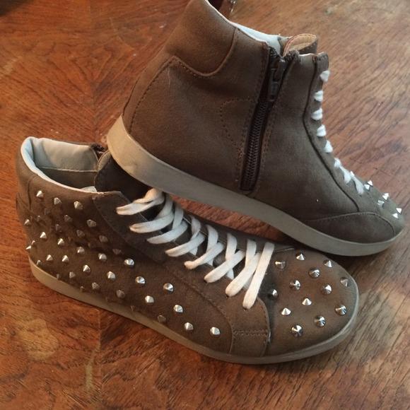 78 xhilaration shoes studded suede like tennis shoe
