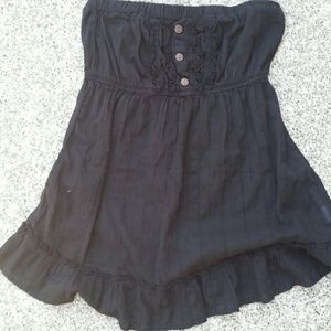 Tops - Strapless black shirt