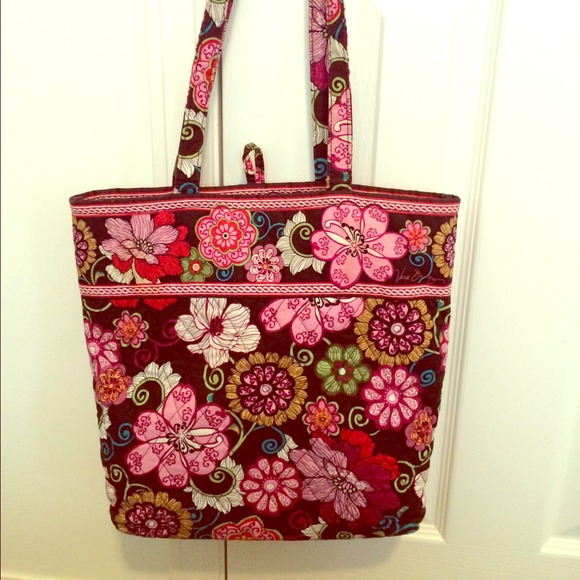 Retired Vera Bradley Mod Floral Pink Tote Bag. M 5415d186ba53402e4c1e1dde d3f8657483b9c