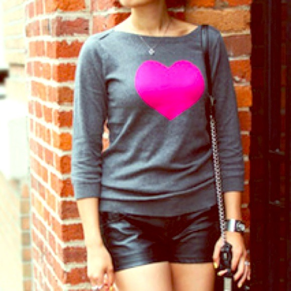 67% off Old Navy Sweaters - Adorable Old Navy Heart Sweater, Gray ...