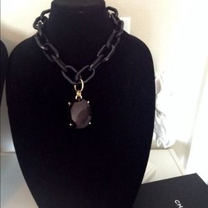 Jewelry - Black large chain pendant necklace