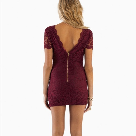 17 off tobi dresses amp skirts tight burgundy lace dress from sisters