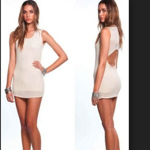 New lovers+friends cream sway dress