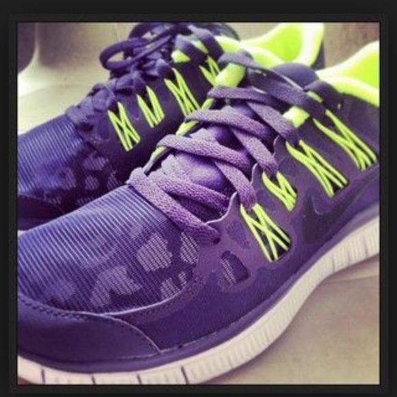 Nike Shoes Free Run Purple Neon OrangePoshmark Purple Neon Yellow Frees Poshmark