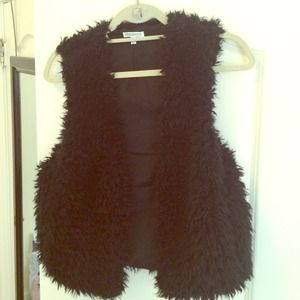 Other - Black faux fur vest