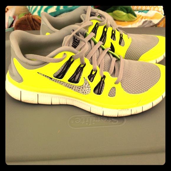 Nike Shoes - Rhinestone Nike Free 5.0 bb7de2c422