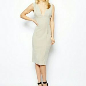 ASOS Pencil Pocket Dress (Grey)